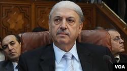 Yussef al-Ahmad, Duta Besar Suriah bagi Liga Arab, menghadiri pertemuan tingkat menteri di Kairo (2/11).