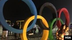 علامت المپیک در منطقه کوپابانا