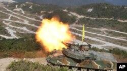 지난해 포천에서 실시된 미한 연합군사훈련 장면(자료사진)