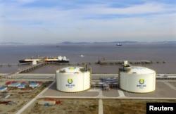 Asia Integrity 號油輪2018年10月19日在中國浙江舟山港卸裝液化石油氣。