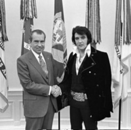 This photo, of Elvis meeting with President Nixon, is the most requested photo in the Library of Congress archives.