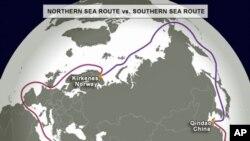 Northern sea route vs southern sea route
