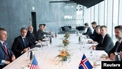 Встреча госсекретаря США Энтони Блинкена с министром иностранных дел Исландии Гудлейгуром Тором Тордарсоном