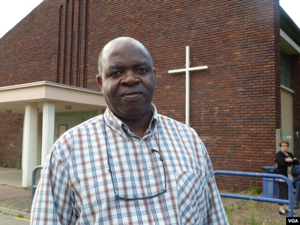 Father Auguste Moanda, a priest at St. Therese parish in St. Etienne du Rouvray and associate of the late Father Jacques Hamel, says the murder was a symbolic attack on France's Christian tradition. The Catholic community, he said, responded by stepping up efforts to engage its Muslim neighbors. (L. Ramirez/VOA)