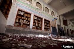 O'tgan hafta Sanodagi ikki masjid portlab, o'nlab odamlar halok bo'lgan edi.