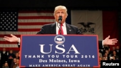 Tổng thống đắc cử Donald Trump.