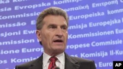 European Commissioner for Energy Guenther Oettinger said the EU would be will to help Urkaine (file picture).