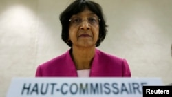 UN High Commissioner for Human Rights Navi Pillay, May 29, 2013.