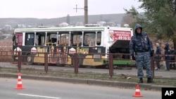 發生爆炸的公共汽車