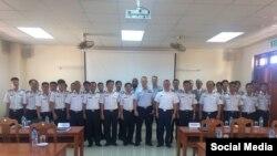 Đội Huấn luyện Lưu động Tuần duyên Hoa Kỳ tổ chức khóa huấn luyện cho các binh sĩ Cảnh sát Biển Việt Nam. (Ảnh: Facebook Đại sứ Ted Osius)