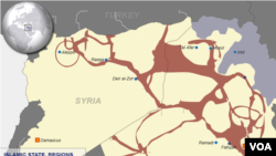 Islamic State areas of control, as of Sept. 10, 2014