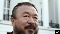 Chinese Avant-Garde artist Ai Weiwei is pictured at the Theater am Goetheplatz in Bremen, northern Germany, on Oct. 4, 2009.