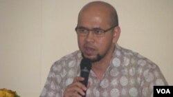 Ketua Masyarakat Transportasi Indonesia (MTI), Prof Dr. Ir. Danang Parikesit di Denpasar, Bali 18/9 (foto: VOA/Muliartha).