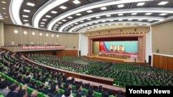 8일 평양에서 조선민주주의인민공화국 창건 67돌 경축 중앙보고대회가 열렸다고 조선중앙통신이 보도했다.