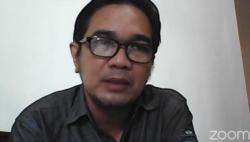 Wakil Sekretaris Jenderal Federasi Serikat Guru Indonesia, Fahriza Marta Tanjung, saat hadir dalam konferensi pers secara daring yang dilakukan Tim Lapor COVID-19, Minggu 1 Agustus 2021, dalam tangkapan layar.