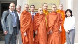 Thach Ngoc Thach, far left, heads an advocacy group for the Khmer minority in Vietnam, known commonly as the Khmer Kampuchea Krom.