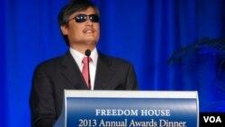 陳光誠自由之家2013年度獎獲獎演説 (美國之音魏之拍攝)