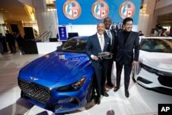 هیوندای «جنسز جی ۷۰» برنده سال ۲۰۱۹ - نمایشگاه اتومبیل دیترویت - میشیگان
