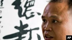 北京维权律师余文生在北京接受采访(2015年7月23日)