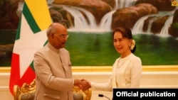 State Counsellor meets with President of India (Photo- Myanmar State Counsellor Office)