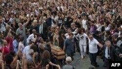 Funérailles de Marielle Franco , conseillère municipale assassinée à Rio de Janeiro, le 15 mars 2018