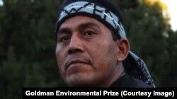 Alberto Curamil, 2019 winner, Goldman Environmental Prize