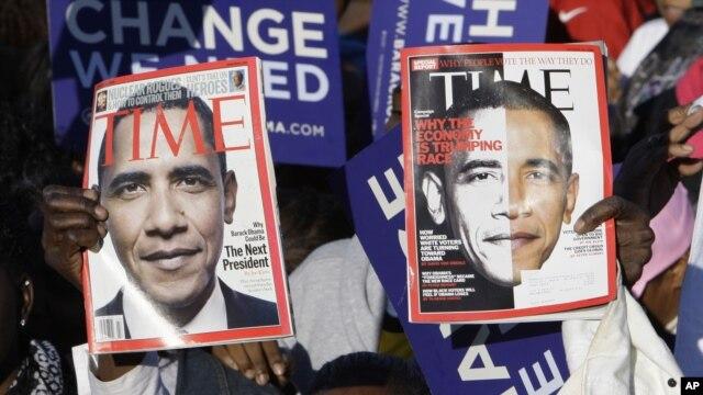 Hình Tổng thống Obama trên tạp chí Time cách đây 4 năm.