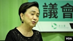 民主黨前主席劉慧卿證實中國維權律師關注組亦有收到警方國安處信件要求提交資料, 並已獲准延長提交資料的期限至9月21日。 (美國之音湯惠芸)