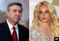 James Spears (L) and Britney Spears.