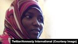 L'adolescente soudanaise Noura Hussein a échappé à la peine capitale pour avoir tué son mari, 26 juin 2018. (Twitter/Amnesty International)