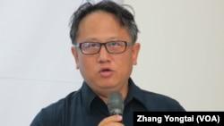 台灣西海岸保育聯盟秘書長蔡嘉陽(美國之音 張永泰)