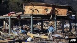 Tỉnh Miyagi bị tàn phá nặng nề ở miền bắc Nhật Bản