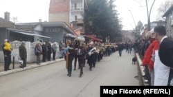 Body of political leader Oliver Ivanovic who was killed 16th of January in Mitrovica, was carried through the city