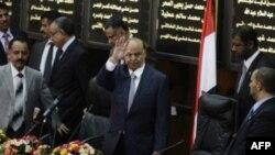 Новый президент Йемена Абд-Раббу Мансур Хади в парламенте