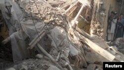 Serangan pesawat tak berawak Amerika mengenai kawasan permukiman di Waziristan utara (foto: dok).