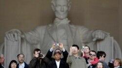 남북 대학생들의 링컨 기념관 방문기
