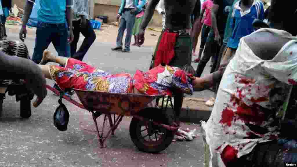 Hari bom din da aka kai da mota a Jos, Mayu 21, 2014.
