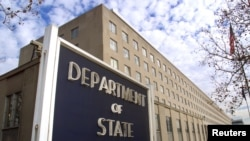 FILE - A general view of the U.S. State Department in Washington, D.C.