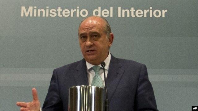 Spanish Interior Minister Jorge Fernandez Diaz, Aug. 2, 2012
