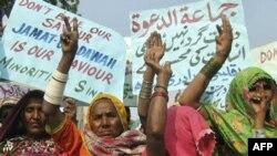 Протест пакистанских женщин в поддержку движения «Лашкар-и-Тайба»
