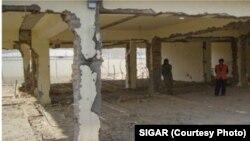 Penjara di Baghlan, Afghanistan yang hancur akibat perang. (Foto: laporan SIGAR).