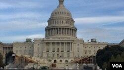 美國國會大廈。(美國之音李逸華拍攝)