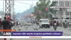 Journée ville morte et grève partielle à Goma