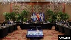 Cumbre Extraordinaria de jefes de Estado y de Gobierno del Sistema de la Integración Centroamérica (SICA), junio 2021. [Foto cortesía]