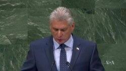 Presidente de Cuba en la ONU