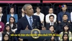 TT Obama gặp gỡ thành viên Sáng kiến Lãnh đạo Trẻ ĐNA tại TPHCM