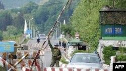 КПП на грузино-абхазской границе
