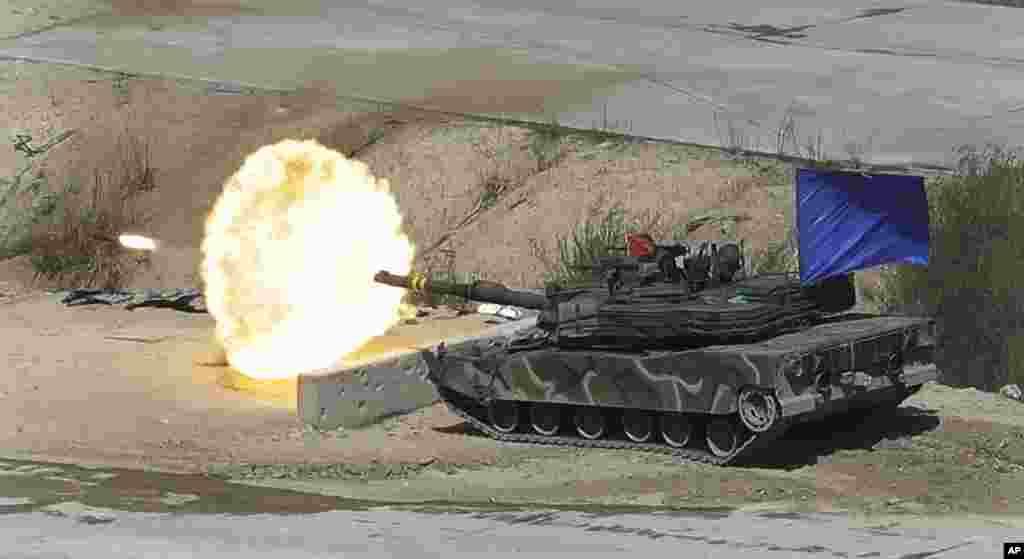 شلیک گلوله جنگی در آخرین رزمایش کره جنوبی در نزدیکی مرز کره شمالی