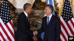 Shugaban Amurka Obama da shugaban Argentina Mauricio Macri