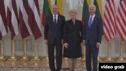 美国副总统拜登会晤立陶宛、拉脱维亚总统(VOA视频)